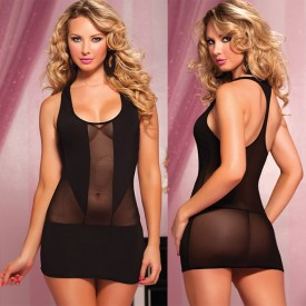 Короткое полупрозрачное платье