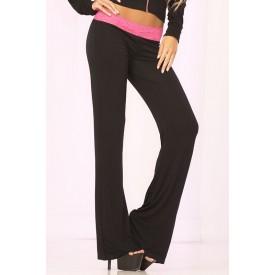 Клубные брючки с кружевным поясом и декоративной шнуровкой сзади LACE TRIM LOUNGE PANTS