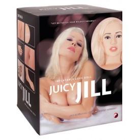 Надувная секс-кукла с анатомическим лицом и конечностями Juicy Jill