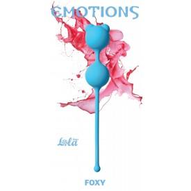 Голубые вагинальные шарики Emotions Foxy